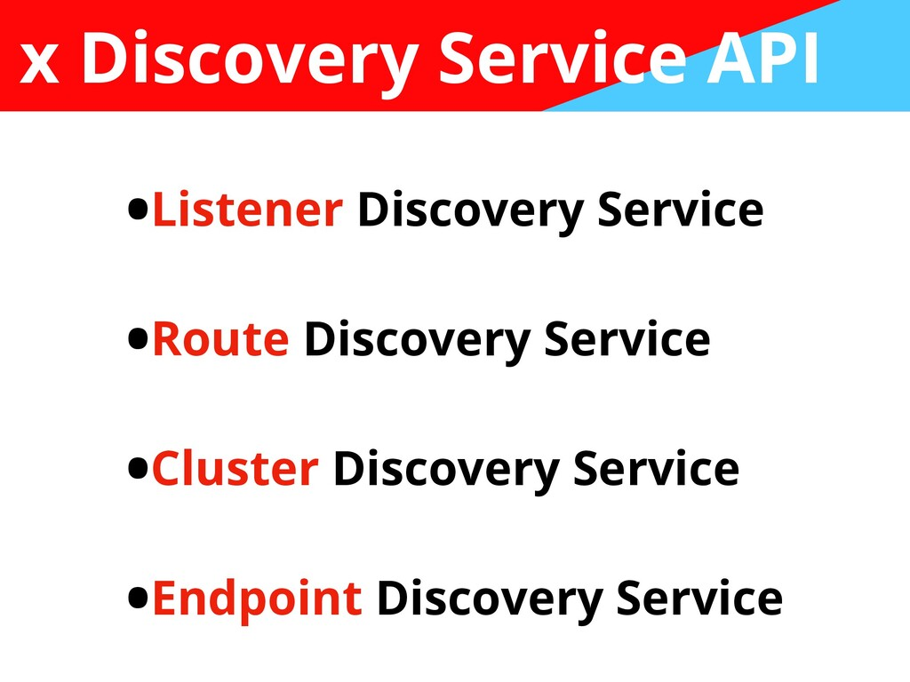 x Discovery Service API •Listener Discovery Ser...