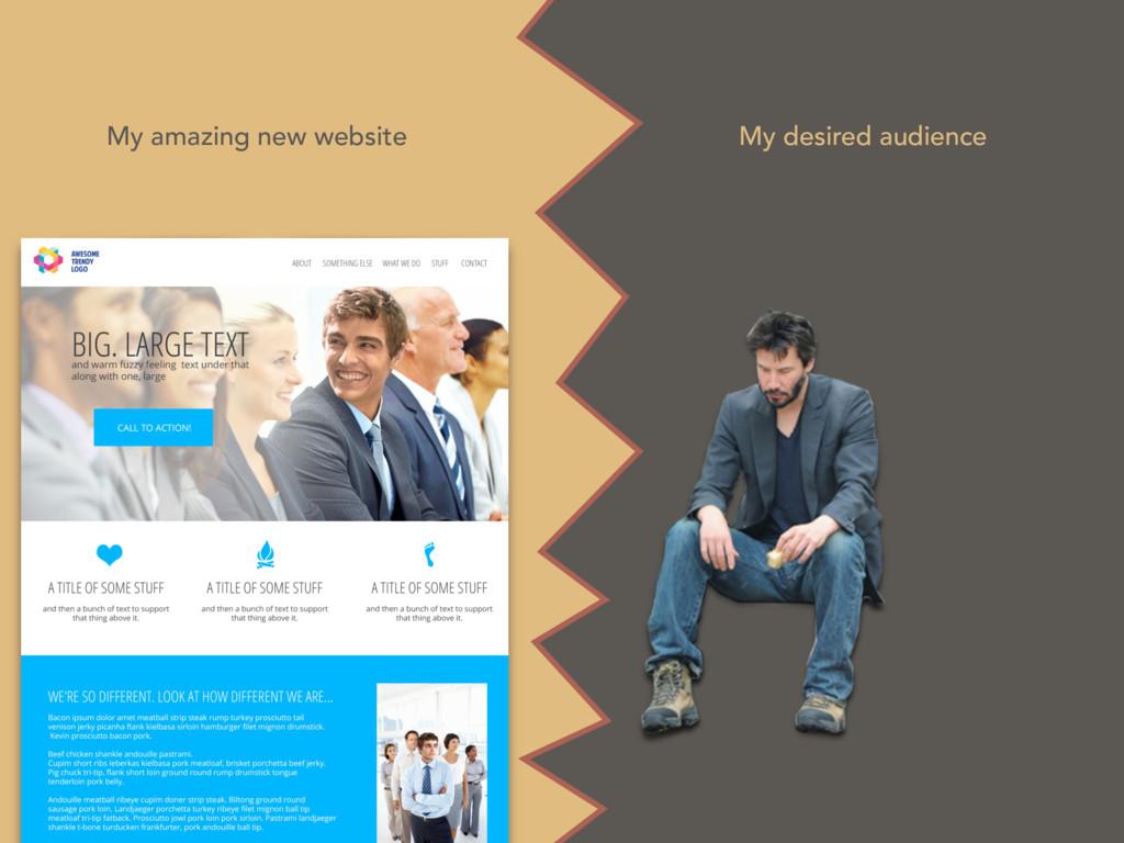 My desired audience My amazing new website
