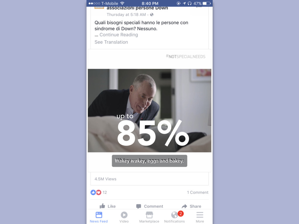 85% up to