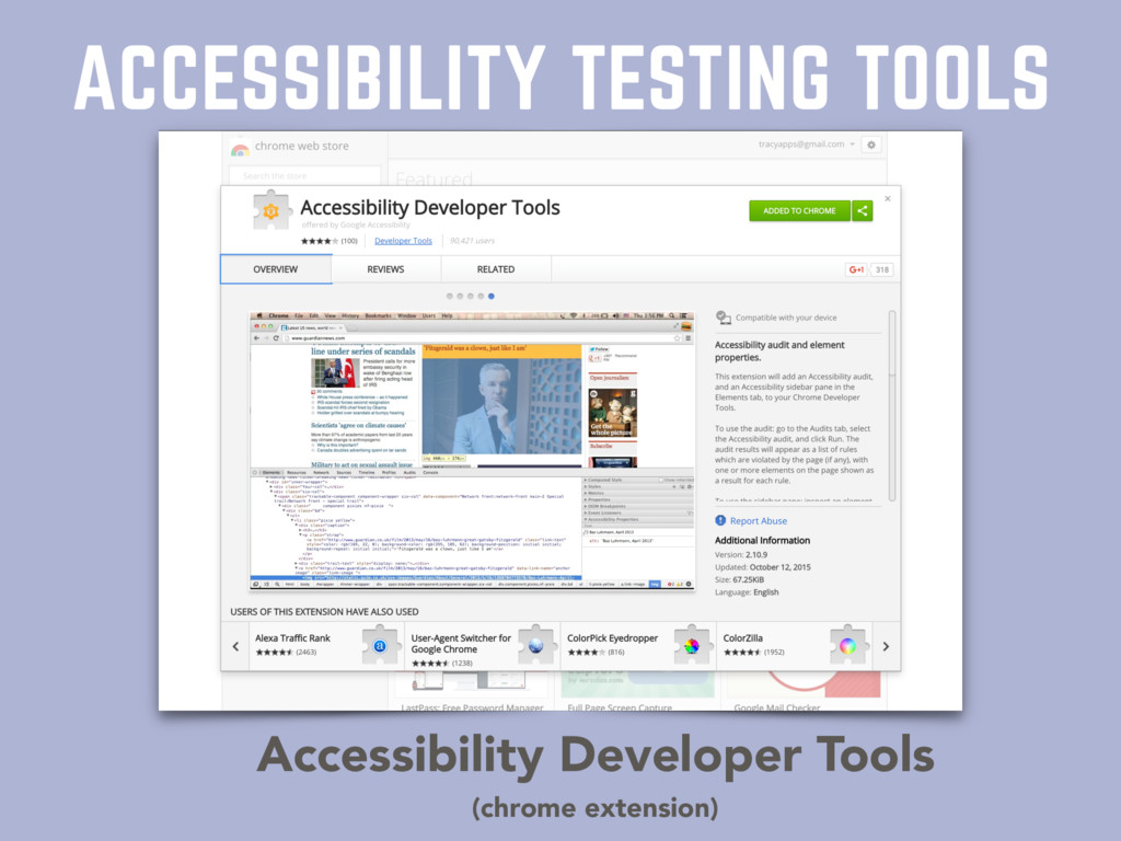ACCESSIBILITY TESTING TOOLS Accessibility Devel...