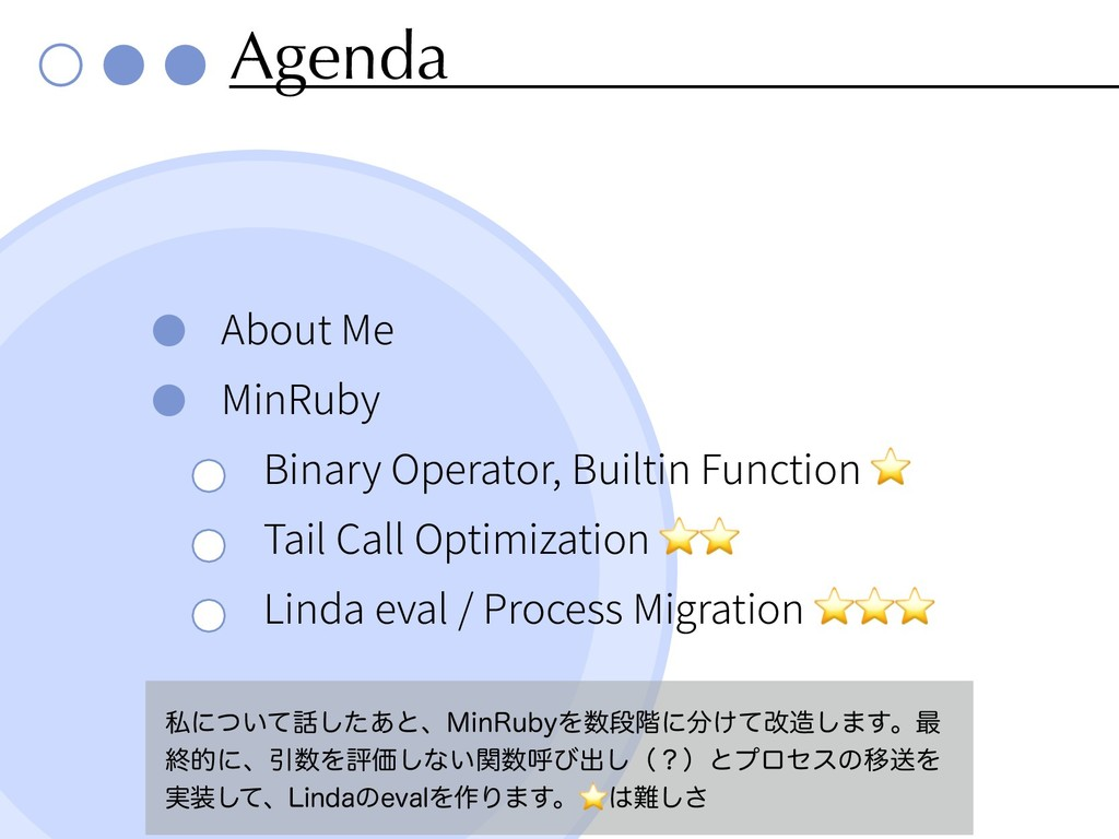 Agenda About Me MinRuby Binary Operator, Builti...