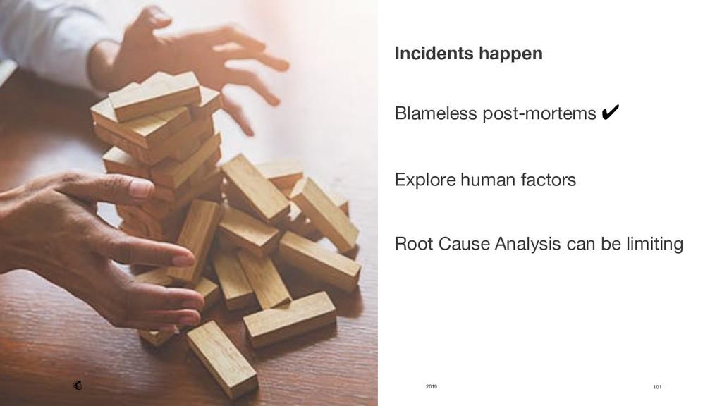 2019 101 Incidents happen   Blameless post-m...