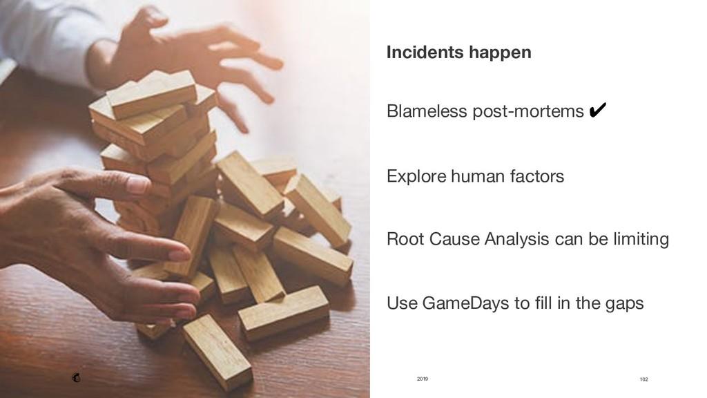 2019 102 Incidents happen   Blameless post-m...