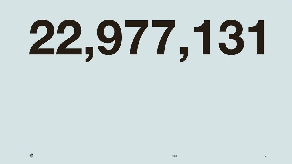 2019 22,977,131 14