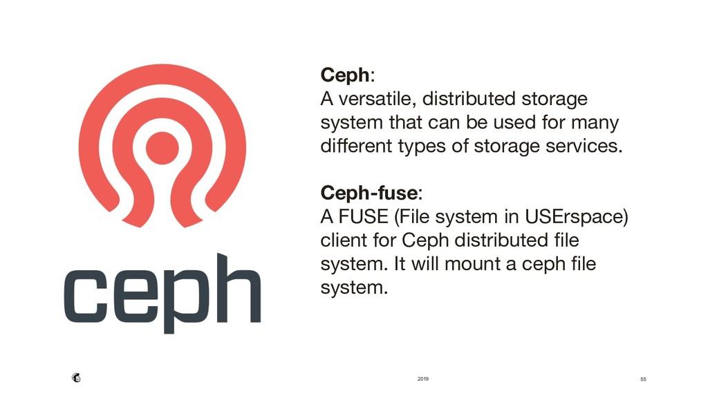 2019 55 Ceph:  A versatile, distributed storag...