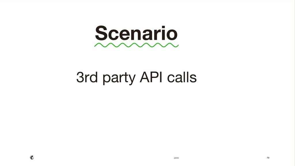 79  Scenario  3rd party API calls    2019