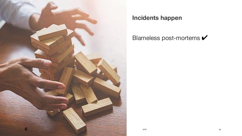 2019 99 Incidents happen   Blameless post-mo...