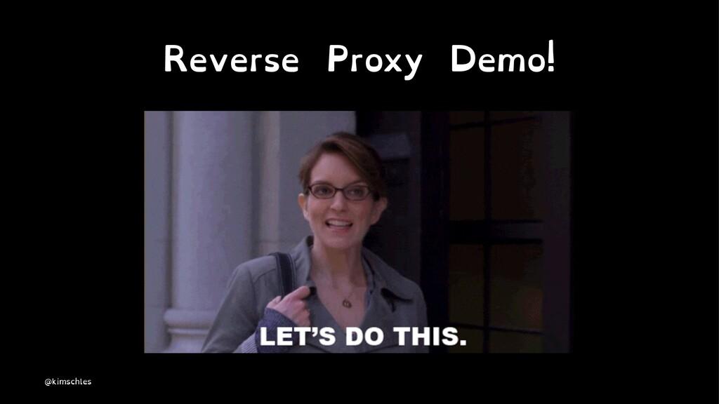 Reverse Proxy Demo! @kimschles