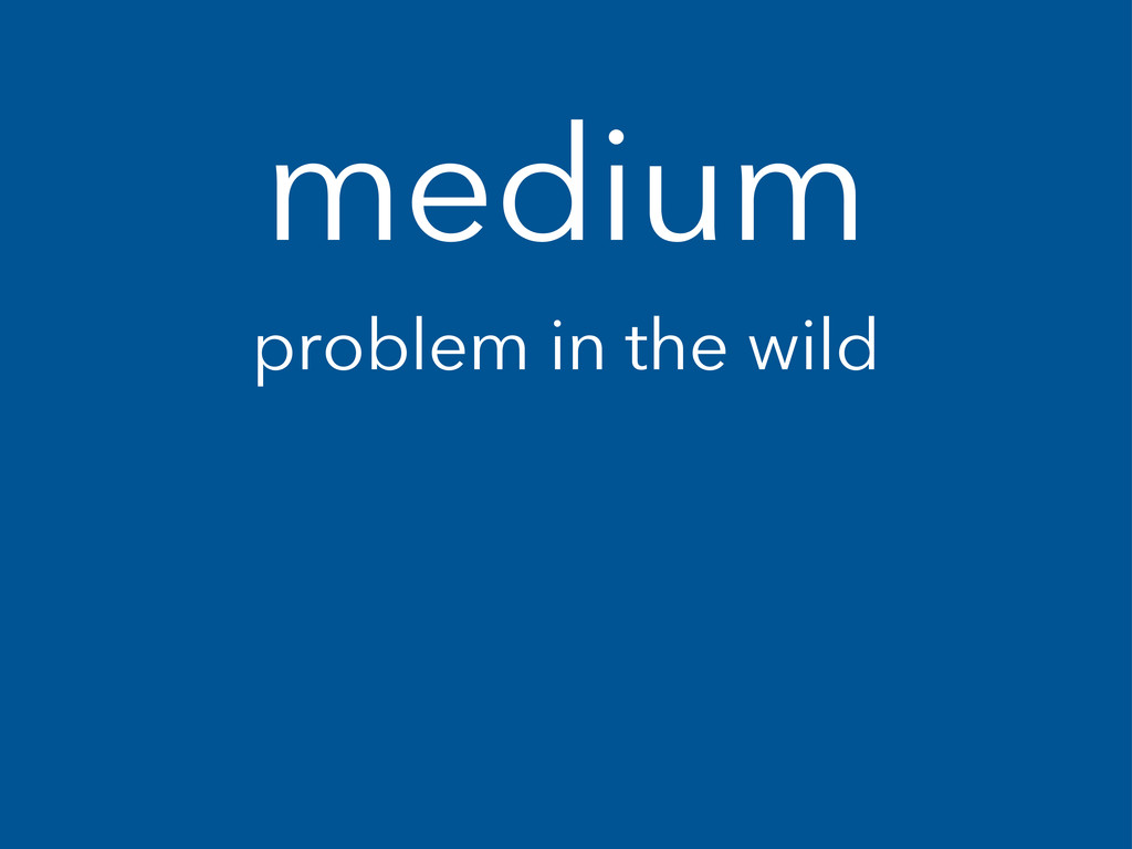 medium problem in the wild