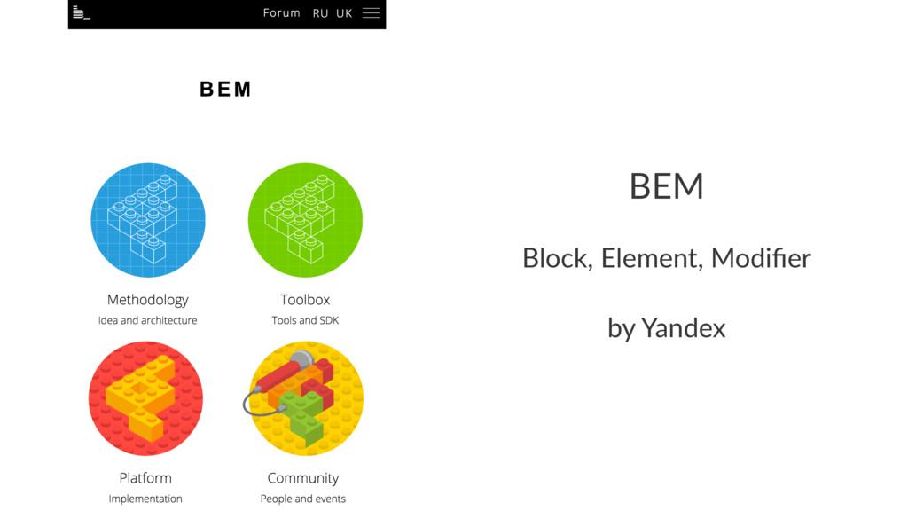BEM Block, Element, Modifier by Yandex