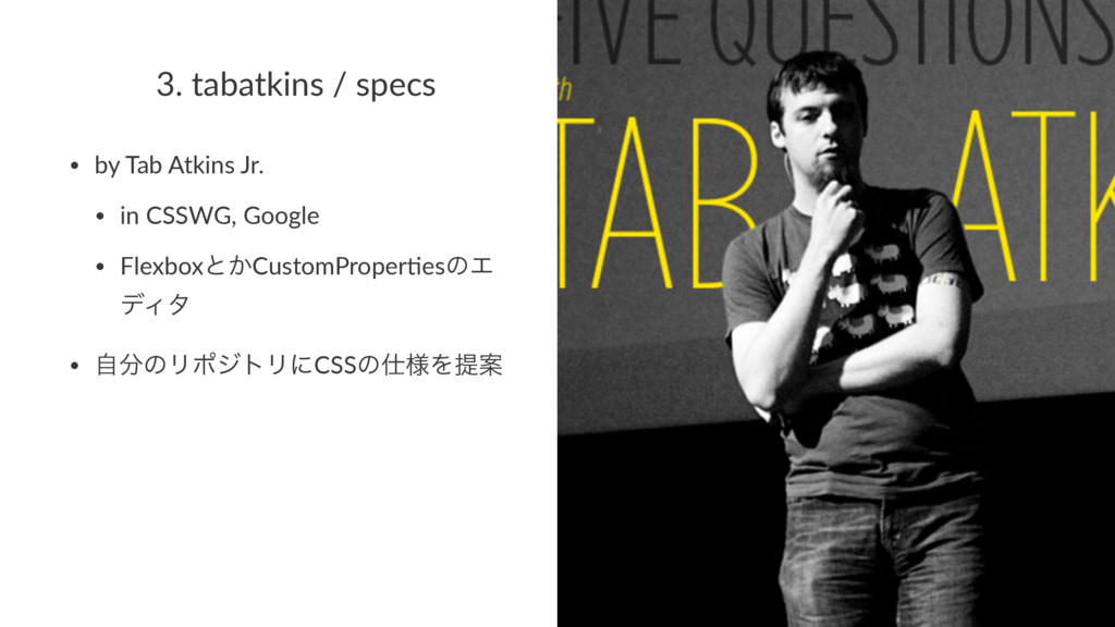 3. tabatkins / specs • by Tab Atkins Jr. • in C...