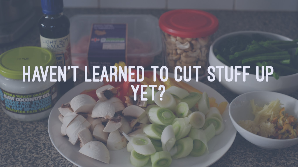 HAVEN'T LEARNED TO CUT STUFF UP YET?