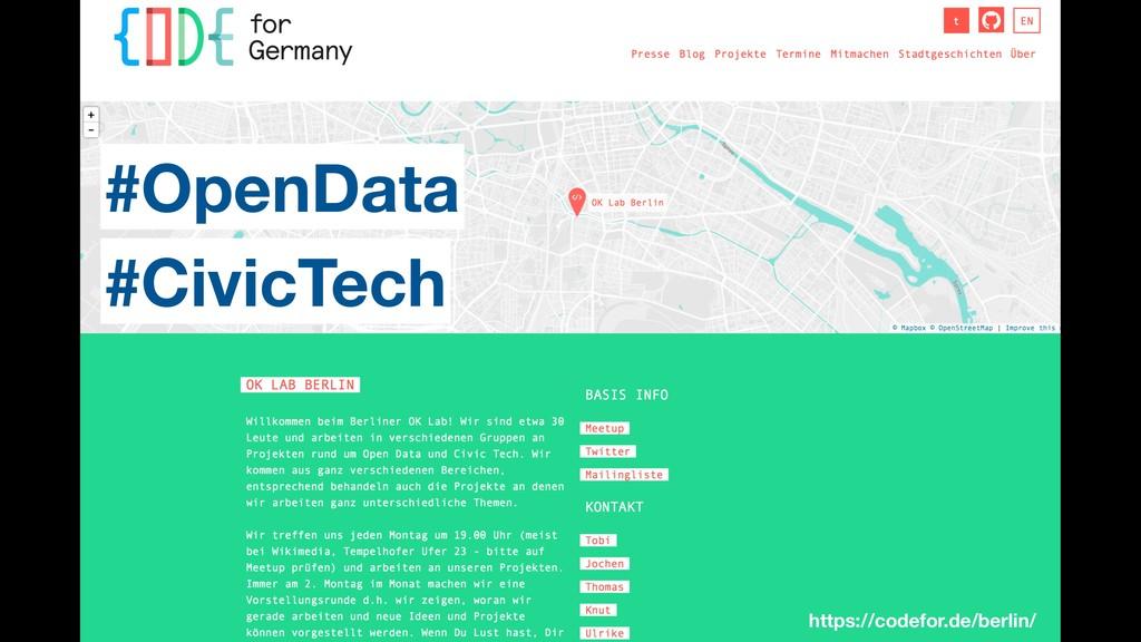 https://codefor.de/berlin/ #OpenData #CivicTech