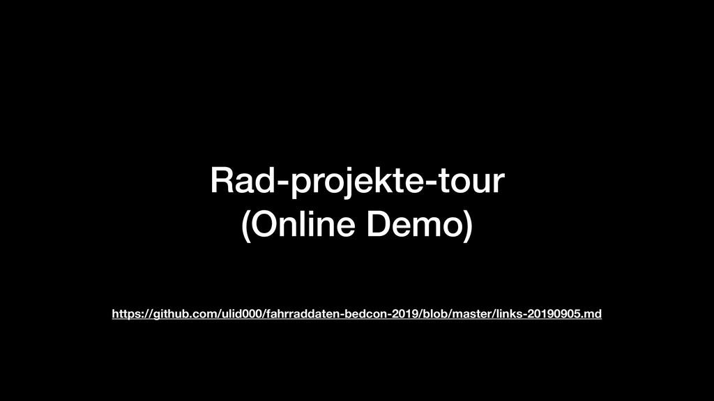 Rad-projekte-tour (Online Demo) https://github...