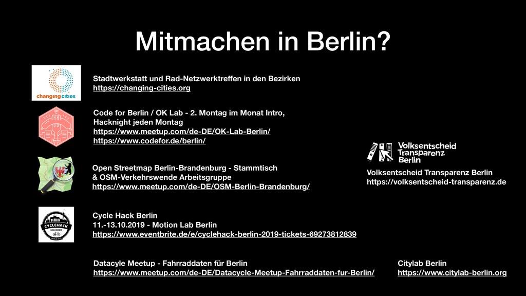 Mitmachen in Berlin? Stadtwerkstatt und Rad-Net...