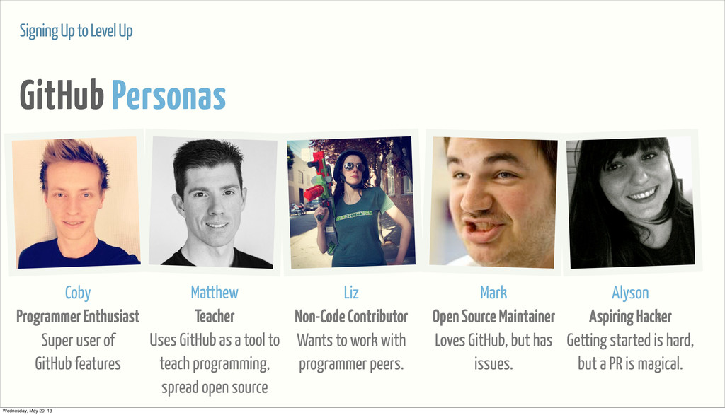 Signing Up to Level Up GitHub Personas Coby Pro...