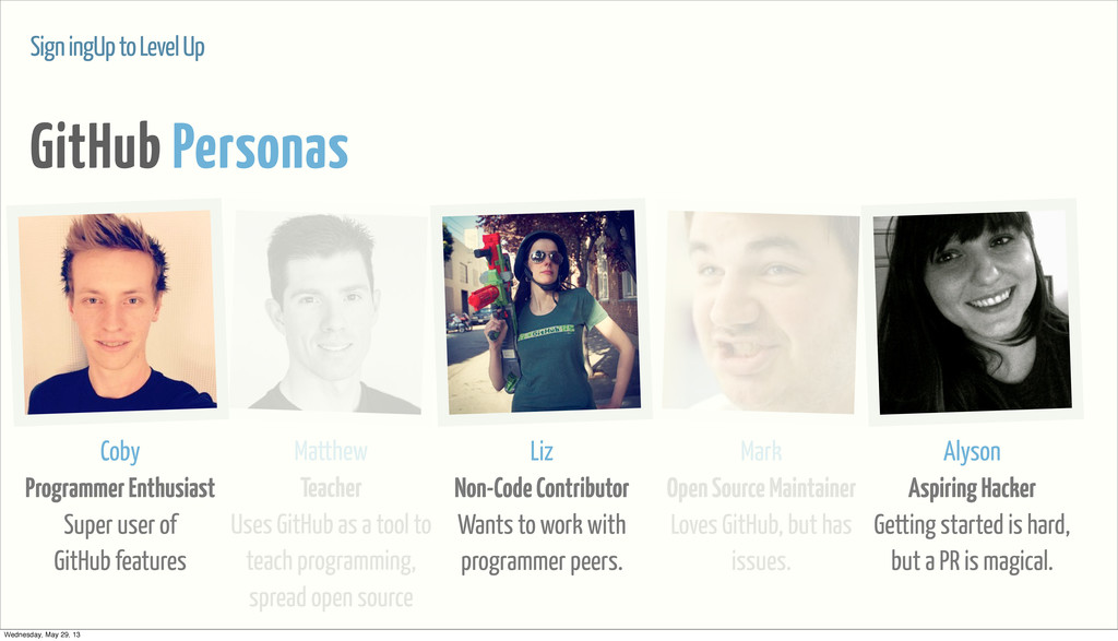 Sign ingUp to Level Up GitHub Personas Coby Pro...