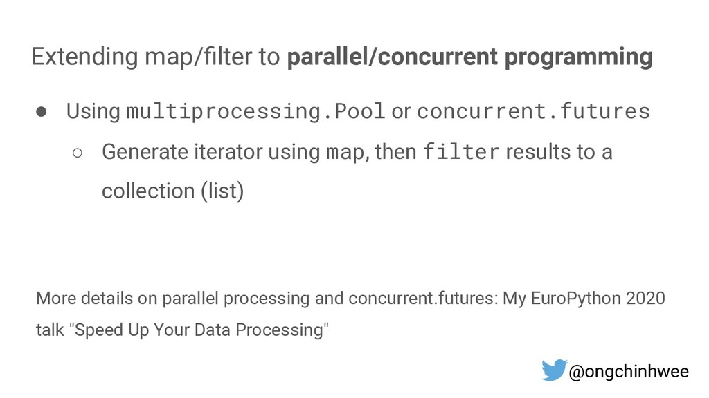 Extending map/filter to parallel/concurrent prog...