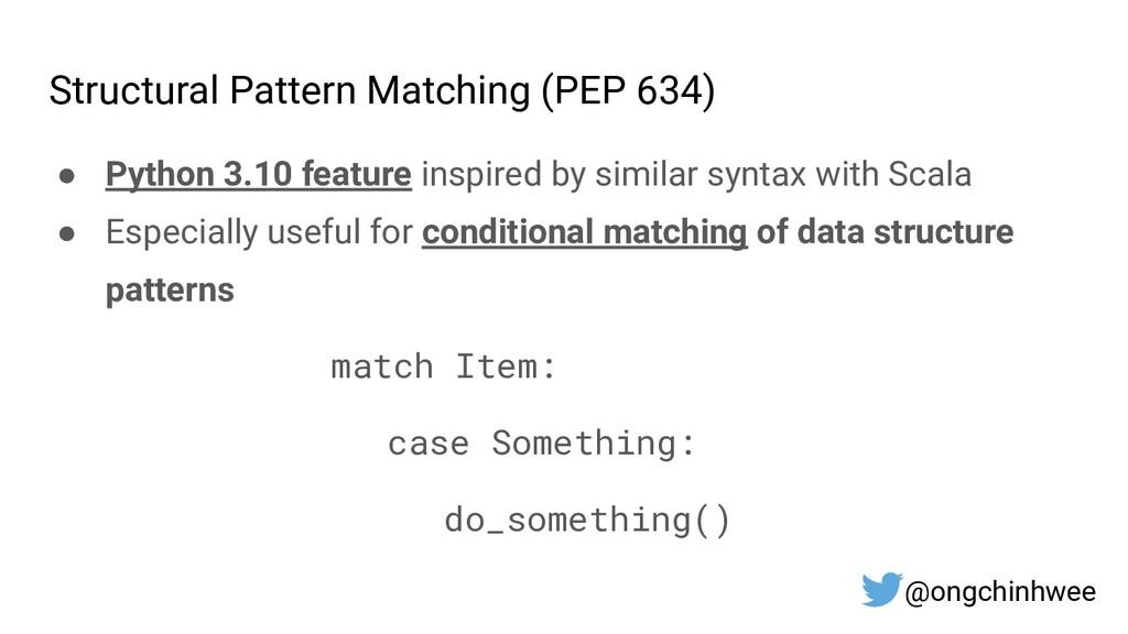 Structural Pattern Matching (PEP 634) ● Python ...