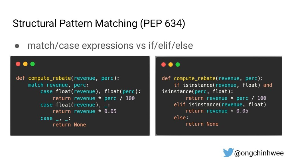 Structural Pattern Matching (PEP 634) ● match/c...