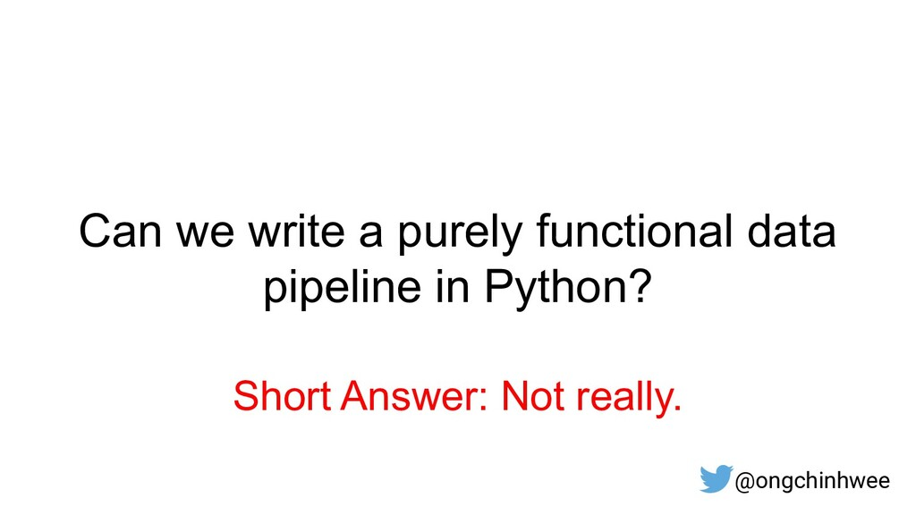 Short Answer: Not really. Can we write a purely...