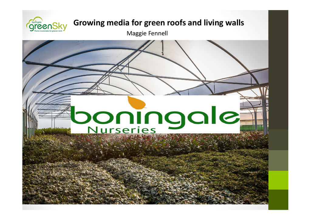 Growing media for green roofs and living walls ...