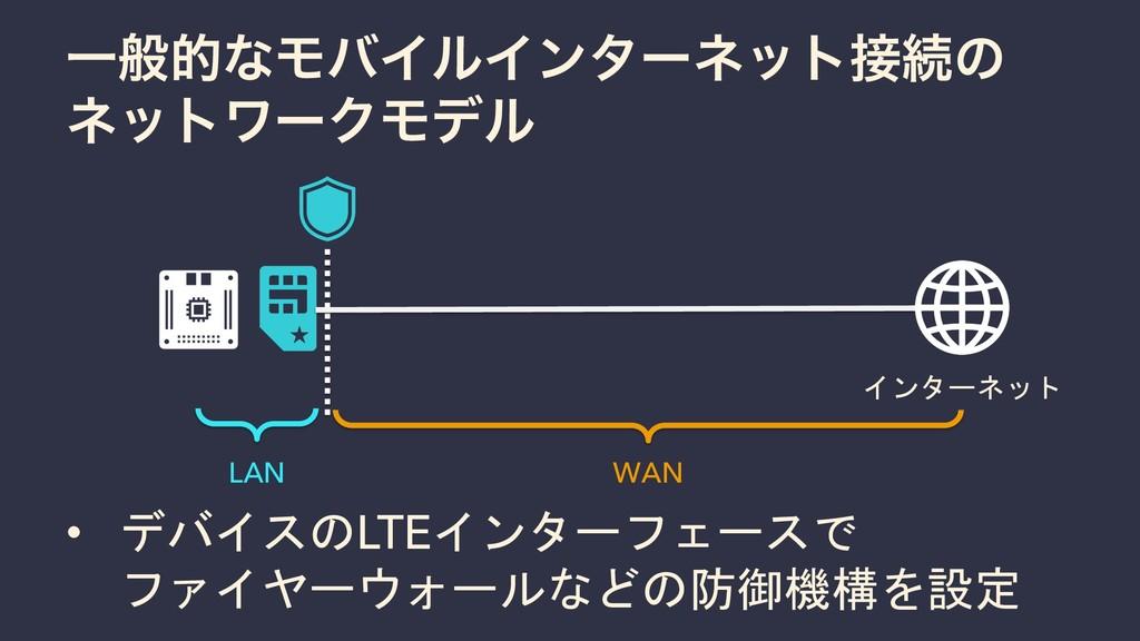ҰൠతͳϞόΠϧΠϯλʔωοτଓͷ ωοτϫʔΫϞσϧ インターネット • デバイスのLTE...