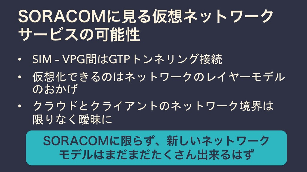 "403""$0.ʹݟΔԾωοτϫʔΫ αʔϏεͷՄੑ • SIM – VPG間はGTPトンネ..."