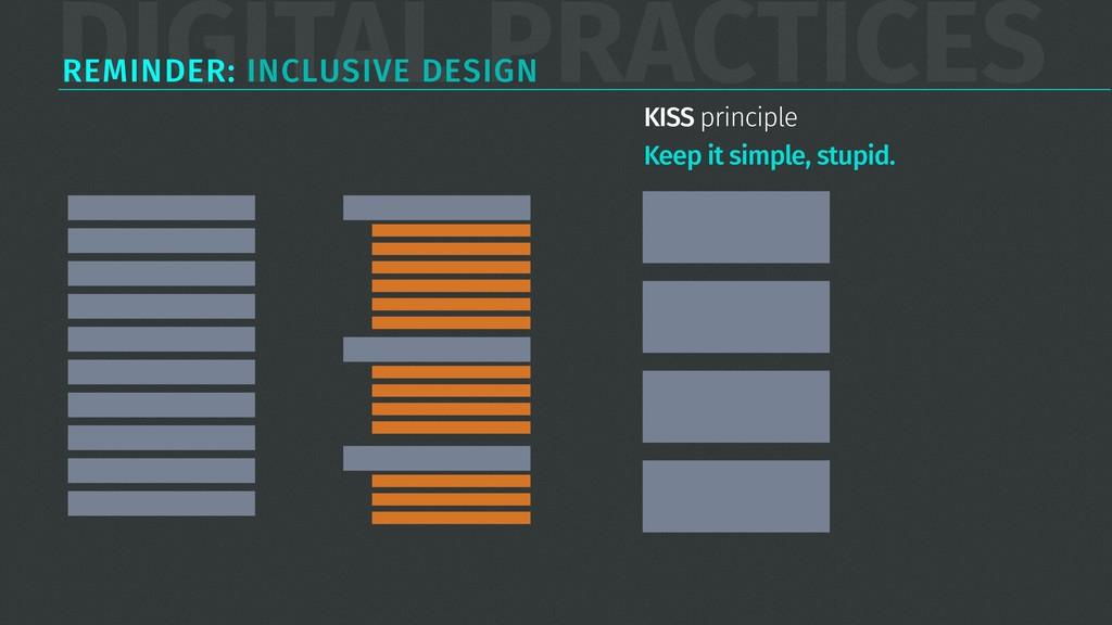 DIGITAL PRACTICES REMINDER: INCLUSIVE DESIGN KI...