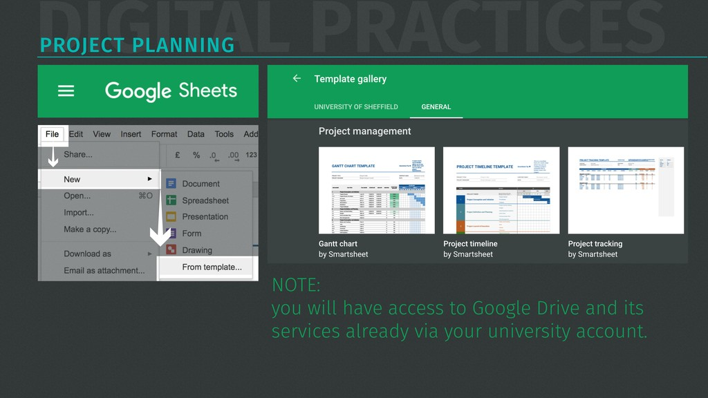 DIGITAL PRACTICES PROJECT PLANNING NOTE:  you ...