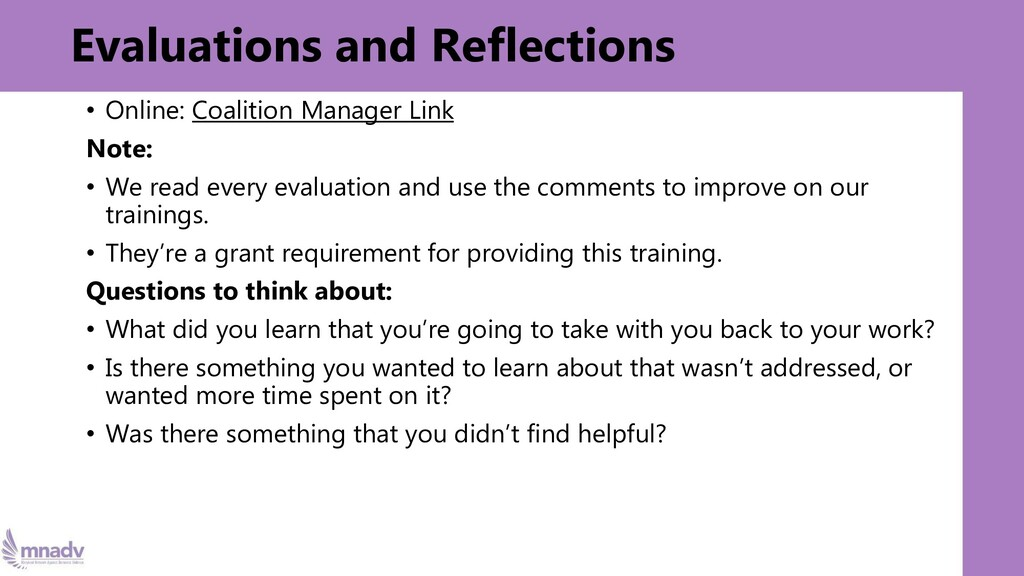 Evaluations and Reflections • Online: Coalition...