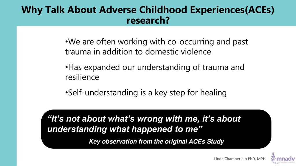 •We are often working with co-occurring and pas...