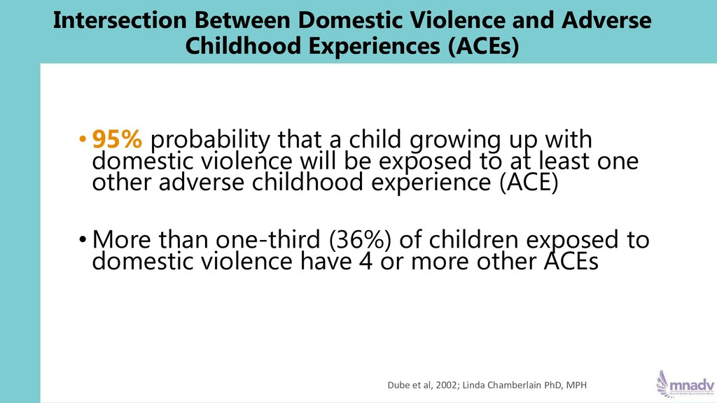 • 95% probability that a child growing up with ...