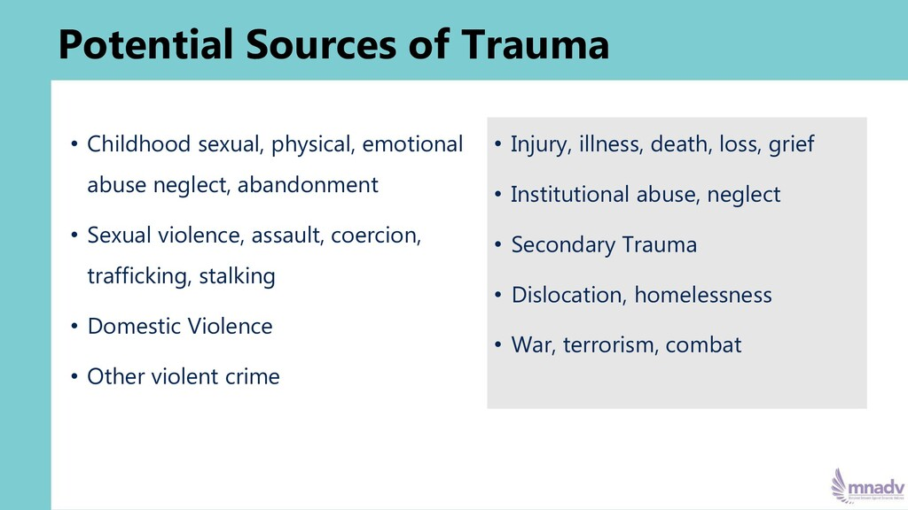 • Childhood sexual, physical, emotional abuse n...
