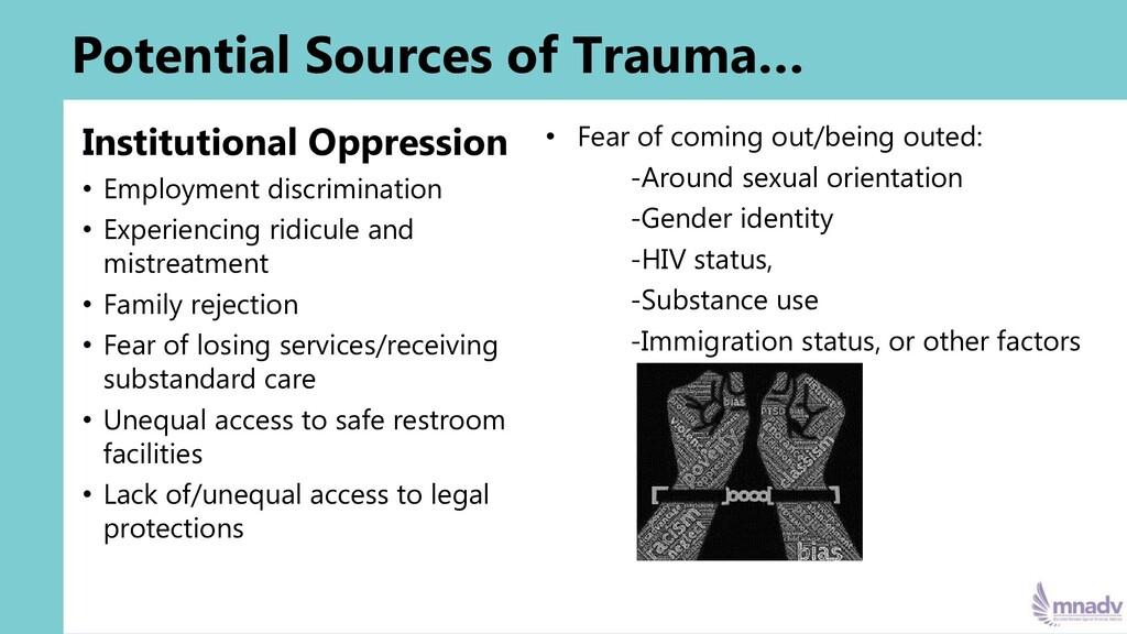 Institutional Oppression • Employment discrimin...