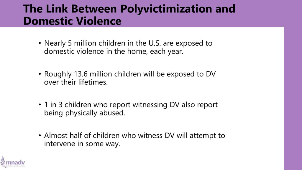 The Link Between Polyvictimization and Domestic...