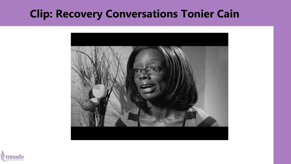 Clip: Recovery Conversations Tonier Cain