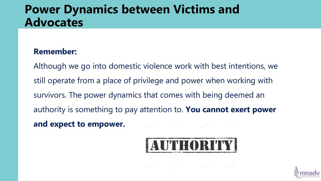 Power Dynamics between Victims and Advocates Re...