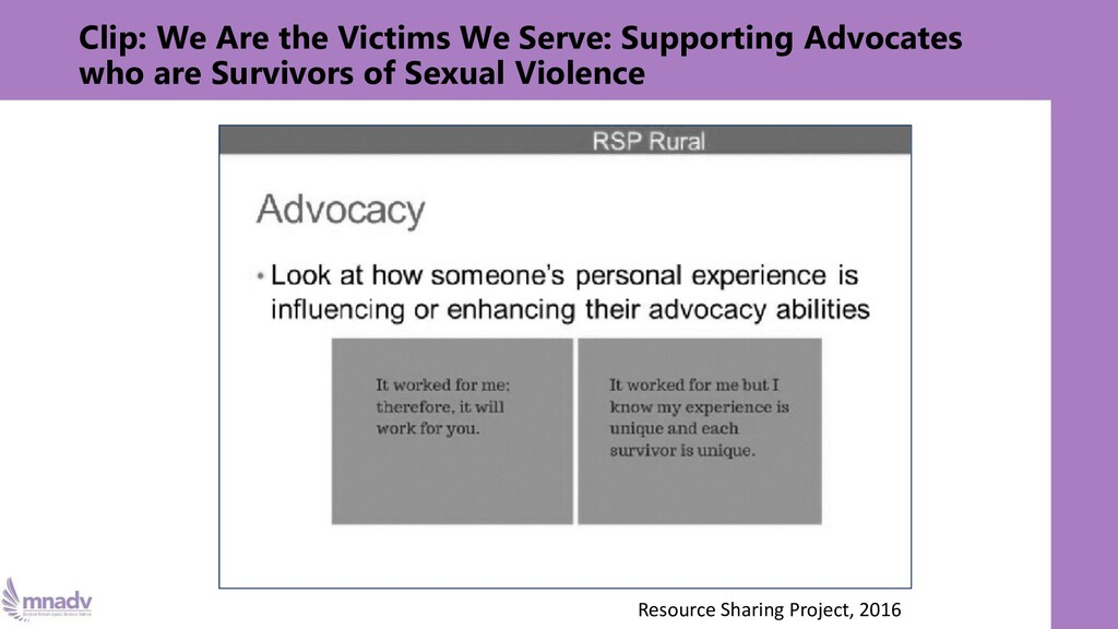 Clip: We Are the Victims We Serve: Supporting A...