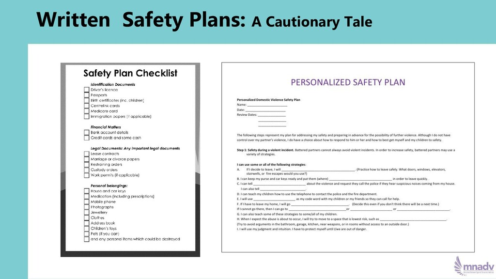Written Safety Plans: A Cautionary Tale