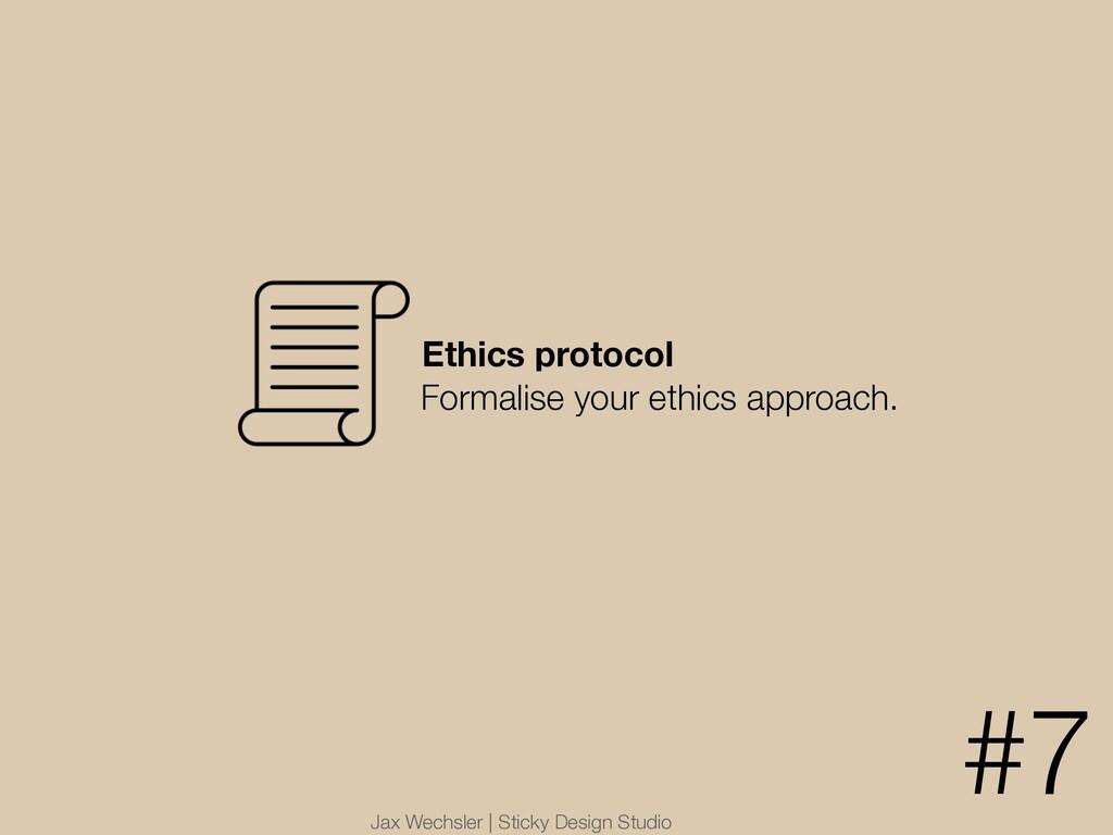 Jax Wechsler | Sticky Design Studio Ethics prot...