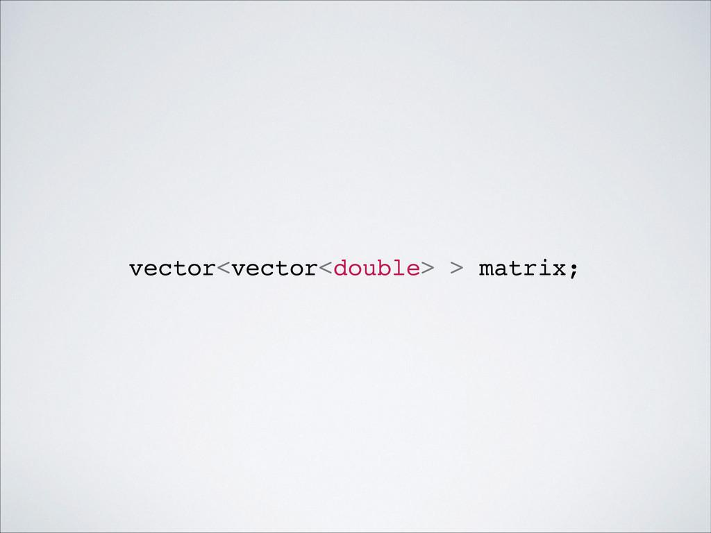 vector<vector<double> > matrix;