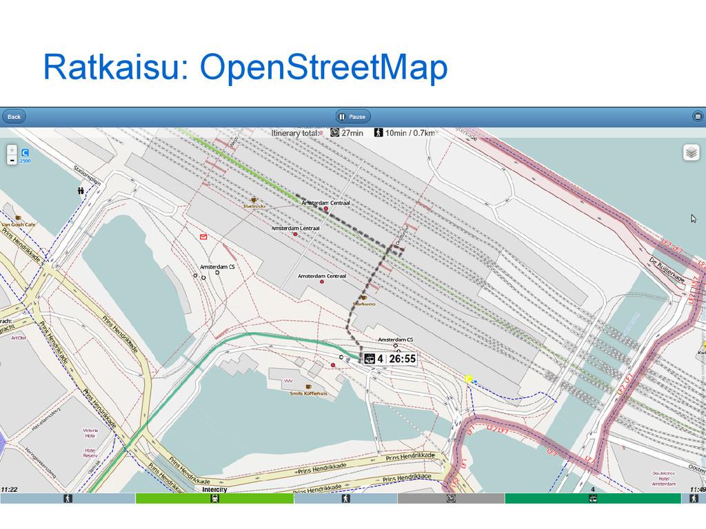Ratkaisu: OpenStreetMap