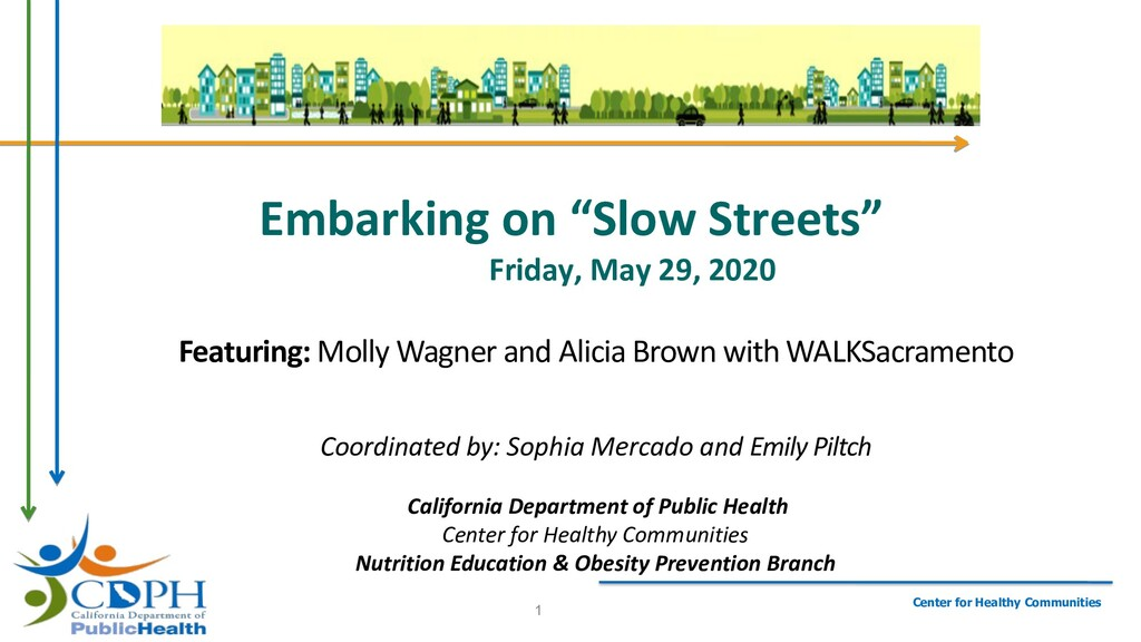 """Embarking on """"Slow Streets"""" Friday, May 29, 202..."""