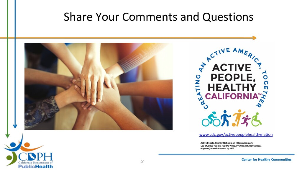 Center for Healthy Communities Share Your Comme...