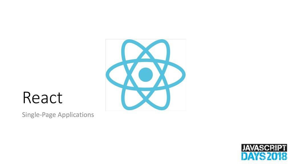 React Single-Page Applications