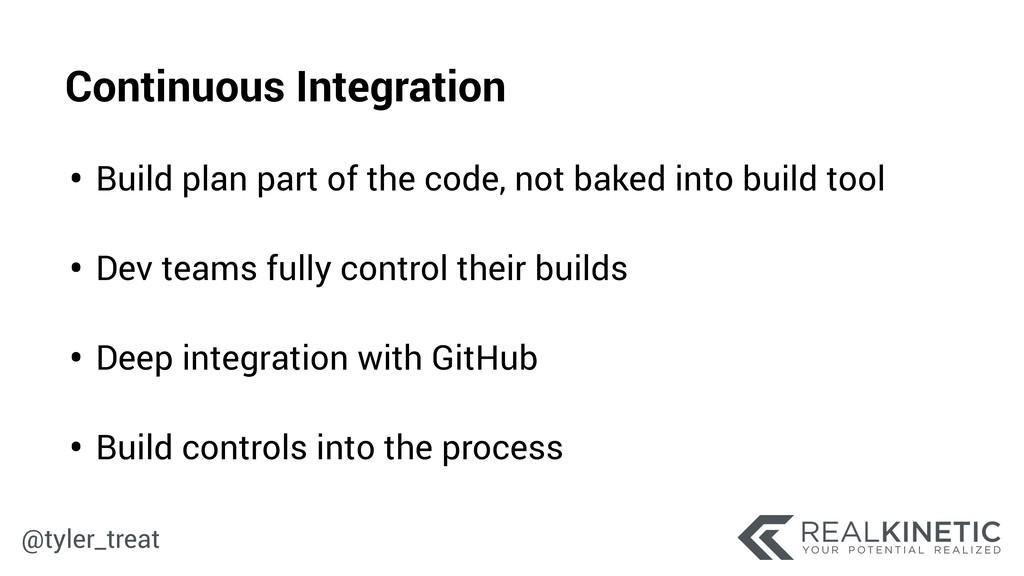 @tyler_treat • Build plan part of the code, not...