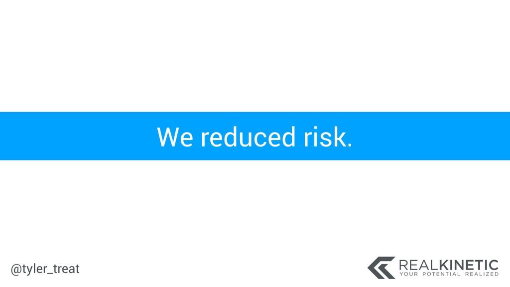 @tyler_treat We reduced risk.