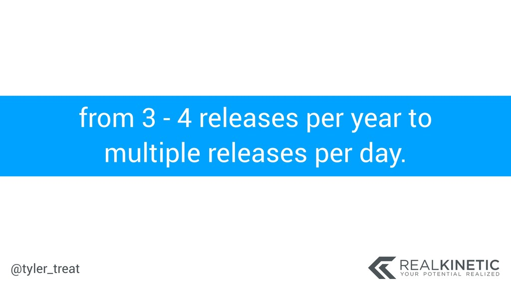 @tyler_treat from 3 - 4 releases per year to mu...