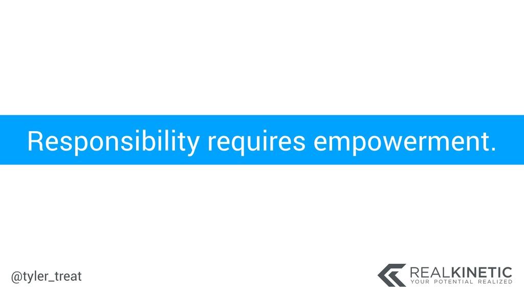 @tyler_treat Responsibility requires empowermen...